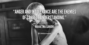 Intolerance saying-Gandhi